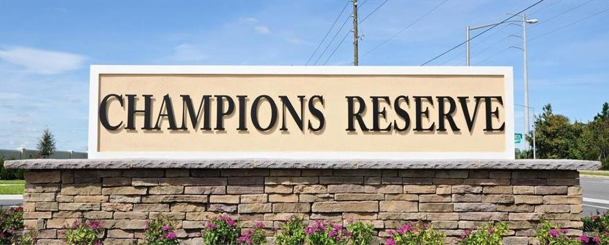Champions Reserve Entrance Sign